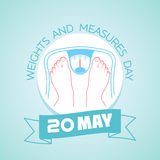20 may Weights and Measures Day Royalty Free Stock Images