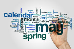 May word cloud. Concept on grey background Royalty Free Stock Images