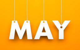 May. Word hanging on a strings vector illustration