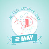 2 may world asthma day. Calendar for each day on may Stock Photos