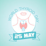 25 may World Thyroid Day. Calendar for each day on may 25. World Thyroid Day. Holiday - Day of parks. Icon in the linear style Stock Photography