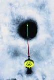 Mały zima połowu prącia lód Obrazy Stock