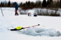 Mały zima połowu prącia lód Zdjęcie Stock