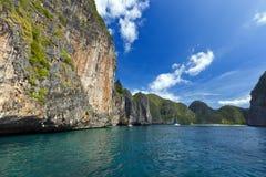 Maya κόλπος, Phi Phi νησί, Ταϊλάνδη Στοκ Φωτογραφίες