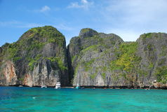 maya Таиланд пляжа залива Стоковые Изображения
