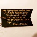 Maya Angelou citationstecken Fotografering för Bildbyråer