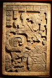 Maya art sculpture 2. Fantastic Maya art sculpture art showing relief detail Royalty Free Stock Photos