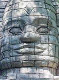 Maya Aztec-het standbeeld van de stijlsteen stock afbeelding