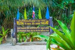 Maya baai, Phi Phi-eiland, Thailand Royalty-vrije Stock Fotografie