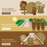 Maya Banner Set Stock Image