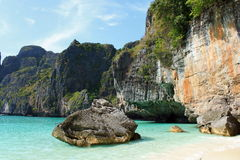 Maya Bay. In Phi Phi Island, Thailand royalty free stock photo