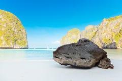 Maya bay. At sunrise time. Phi phi island Royalty Free Stock Images