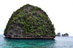 Maya Bay. Rock in Maya Bay at Phi-Phi islands Stock Image