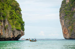 Maya bay. In Krabi province, Thailand Royalty Free Stock Photography