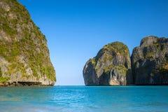 Maya Bay all'isola di Koh Phi Phi Leh Fotografia Stock