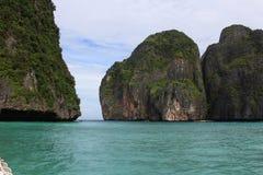 Maya Bay. Almost deserted Maya Bay, Thailand Stock Images