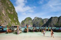 Maya Bay - Phi Phi Island Image stock