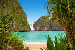 Maya bay of Phi-Phi island Royalty Free Stock Image