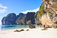 Maya Bay of Phi Phi island in Thailand Royalty Free Stock Photos