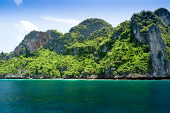 Maya bay on Phi Phi island, Thailand Royalty Free Stock Images
