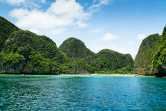 Maya bay on Phi Phi island, Thailand Royalty Free Stock Image