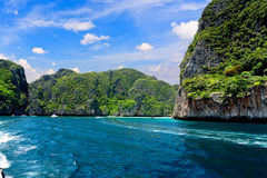 Maya bay on Phi Phi island, Thailand Stock Photos