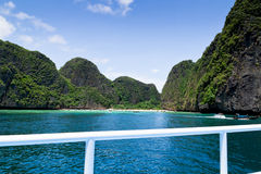 Maya bay on Phi Phi island, Thailand Royalty Free Stock Photo