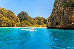 Maya bay Phi Phi Islands andaman sea Krabi, South of Thailand Royalty Free Stock Photos