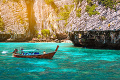 Maya bay Phi Phi Islands andaman sea Krabi, South of Thailand Stock Image