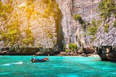 Maya bay Phi Phi Islands andaman sea Krabi, South of Thailand Royalty Free Stock Photo