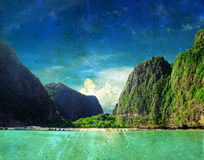 Maya bay Phi phi leh Stock Images