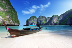 Maya bay Phi Phi Leh island Royalty Free Stock Images