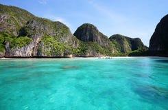 Maya bay, Phi Phi Leh island Royalty Free Stock Photography