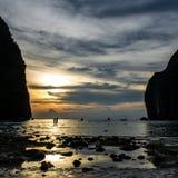 Maya Bay Sunset Fotografía de archivo libre de regalías