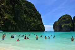 Maya Bay, Tailandia Immagine Stock
