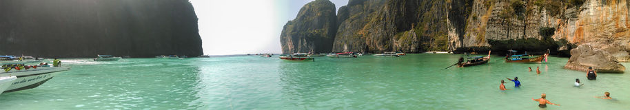 Maya bay in Thailand Royalty Free Stock Images