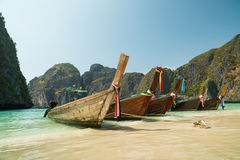 MAYA BAY, THAILAND - MARCH 2016 Travel to Thailand& x27;s romantic beaches Royalty Free Stock Image