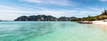 Maya Bay. Maya Bay in Thailand. The most popular beach in the country Stock Images