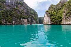Maya Bay. Maya Bay in Thailand. The most popular beach in the country Royalty Free Stock Photos
