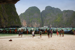 Maya Bay Tourists Royalty Free Stock Photos