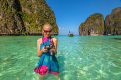 Maya Bay Travel photographer Stock Photo