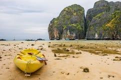 Maya Beach - Regenachtige Dag in Phi Phi Leh Royalty-vrije Stock Foto