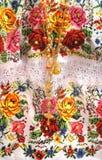 Maya borduurwerkdetail royalty-vrije stock afbeeldingen