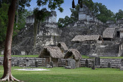 Maya building in Tikal, Guatemala Royalty Free Stock Image
