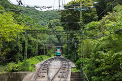 Maya Cable Car on track in mount Maya and Rokko Royalty Free Stock Photography