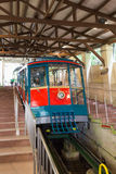 Maya Cable Car on track in mount Maya and Rokko Stock Images