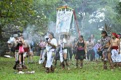Maya ceremonie Stock Afbeelding