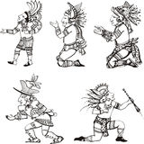 Maya characters Royalty Free Stock Photo