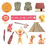 Maya Civilization Set illustration de vecteur