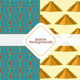 Maya culture background. Background of  maya culture and mexican landmark theme Vector illustration Royalty Free Stock Photo